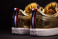 "UNDFTD x PUMA Clyde ""Gametime"" 24k Metallic Gold"