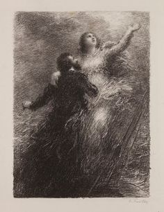 Vaisseau fantôme (1885), lithograph by Henri Fantin-Latour (1836-1904), from Act 3 of Der fliegende Holländer (1841), by Richard Wagner (1813-1883).