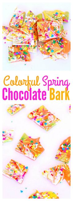 Colorful Spring Chocolate Bark