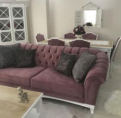 Each corner is harmonious: Nesrin lady& elegant and chirping house . Room Color Schemes, Room Colors, Home Furniture, Furniture Design, Fireplace Furniture, Modern Furniture, Living Room Sofa, Living Room Decor, Furniture Restoration