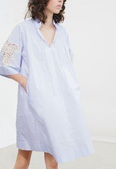M.I.H JEANS Langley Dress - Vintage Smock Dress - Blue Stripe. #m.i.hjeans #cloth #all