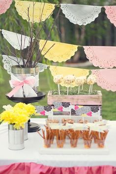 PHOTO PROPS~ For a tea party. I'm thinking shepherds hooks, baler twine few colorful paper doilies. Birthday Numbers, 2nd Birthday, Birthday Parties, Themed Parties, Rustic Wedding Reception, Bridal Shower Rustic, Baby Party, Tea Party, Wedding