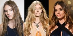 Undone waves have become a cool girl uniform. The texture was tousled at Alberta Ferretti, while at Anna Sui 70s bohemia floated down the catwalk and at Sonia Rykiel models (including Miranda Kerr, right) oozed nonchalant Parisian cool.  -Cosmopolitan.co.uk