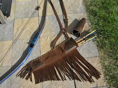 Traditional Archery Quiver & Armguard Set by TrishasTreasure, $180.00