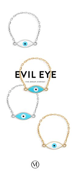 They are the ones. Mejuri Evil Eye chain rings. In 18k pure gold or 925 sterling silver