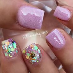 LOVE the sparkle lilac/lilac crelly w/abalone like pattern for accent nails :)