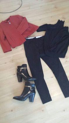 Sort unit5 bukse, sort genser