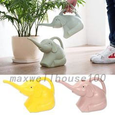 Kids Children Elephant Shape Watering Can Plastic Fun Gardening Pot Tool UK