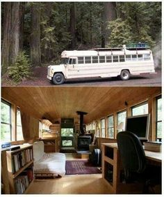 Amazing school bus camper