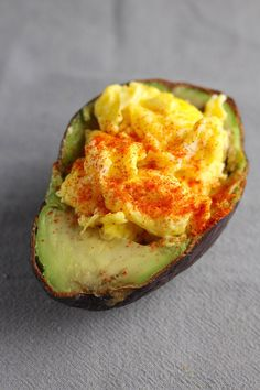 Scrambled-Egg-Stuffed Avocado
