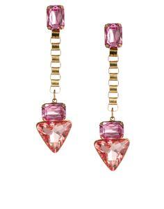 jewel triangle drop earrings