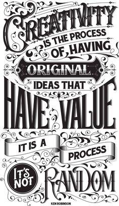 Creativity qoute by Ken Robinson on Behance
