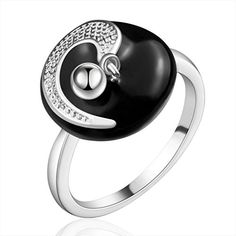 Rainy Jewel New arrival fine jewelry 925 silver rings DIY star punk rings black charms rings for women friend lovers special gift SR671 7.0 * Read more at the image link. http://www.amazon.com/gp/product/B00Y710DM8/?tag=jewelry3638-20&pbc=130916035731