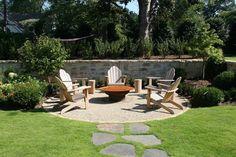 Fire Pit Seating, Backyard Seating, Backyard Patio Designs, Small Backyard Landscaping, Fire Pit Backyard, Backyard Projects, Backyard Ideas, Landscaping Ideas, Garden Ideas