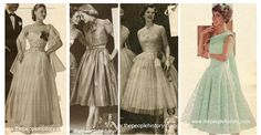 1950s Teenage Girls Formal and Prom Dress Wear - Conformity need = accordance with socially accepted conventions or standards