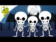 Head Shoulders Knees and Toes Nursery Rhyme with Skeleton | Halloween Songs - YouTube
