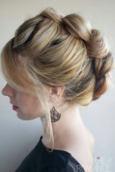 messy bun trying this right now Hair Romance - 30 braids 30 days beautiful hair with flowers braided ponytail Up Hairstyles, Pretty Hairstyles, Braided Hairstyles, Wedding Hairstyles, Braided Updo, Teenage Hairstyles, Style Hairstyle, Wedding Updo, Edgy Updo