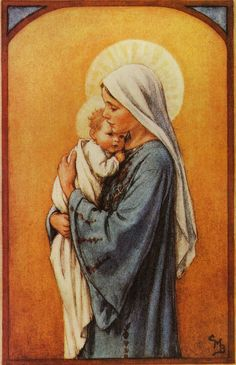 11 X 14 Religious Print Picture by Cicely Mary Barker Madonna in Blue for sale online Sainte Rita, Sainte Marie, Blessed Mother Mary, Blessed Virgin Mary, Catholic Art, Religious Art, Images Of Mary, Bing Images, Religion Catolica