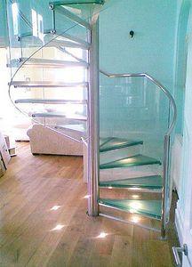 metal frame and glass steps- oooooo be careful on those!