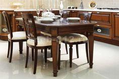 Столовые группы. Обеденные комплекты. Столы и стулья из массива для столовой, кухни или гостиной. Каталог мебели из дерева. Фото №73.