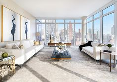 If ever was the time to jump on a luxury home at The Charles in Manhattan's Upper East Side, now is it because there are only five left. Living Room New York, Condo Living, Apartment Living, High Rise Apartments, Luxury Apartments, Luxury Homes, Nyc Apartment Luxury, New York Penthouse, Luxury Penthouse