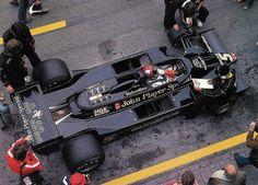 Mario Andretti The Black Beauty! Lotus F1, F1 Racing, Drag Racing, Ferrari, Mario Andretti, Race Engines, Formula 1 Car, Motosport, Indy Cars