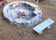 Custom Fire Pits Designed to Cook On, Open Pit Cookery, Real Wood BBQ, Fire pit designs, Adirondack Fire Pit Ring, Diy Fire Pit, Fire Pit Backyard, Fire Pit Near Pool, Cool Fire Pits, Fire Pit Cooking, Fire Pit To Cook On, Outdoor Fire, Outdoor Decor