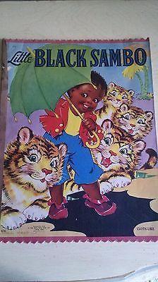 Little-Black-Sambo-Cloth-Book-Illustrations-Ethel-Hays-Saalfield-Pub-Co-1942