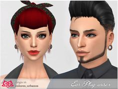 Basic Ear Plug Piercing by Colores Urbanos at TSR via Sims 4 Updates