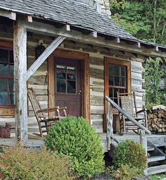 Log house in the Smoky Mountains