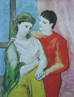 Pablo Picasso LIEBESPAAR - DER VOGELKÄFIG 2 Kunstdrucke
