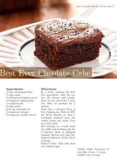 Recipe book by Sana Ishaq - issuu Fun Baking Recipes, Easy Cake Recipes, Sweet Recipes, Dessert Recipes, Unique Recipes, Delicious Recipes, Amazing Chocolate Cake Recipe, Best Chocolate Cake, Chocolate Desserts