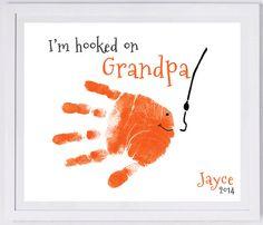 Fishing Handprint Wall Art 203_pap by MyForeverPrints on Etsy