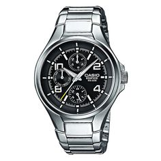 Watch Casio Edifice Men¡äs Black by Edifice -- Awesome products selected by Anna Churchill Casio Edifice, Watches Online, Smartwatch, Cool Watches, Watches For Men, Men's Watches, Herren Chronograph, Casio Classic, Sports