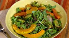 the chew | Recipe  | Daphne Oz's Roasted Autumn Vegetables:   This salad is great on its own for a light meal or as part of a hearty dinner. Try it for yourself.