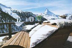High peaks and even higher calories! Chez Vrony Restaurant, Zermatt, Switzerland