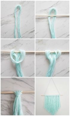 DIY Wall Hanging | Make this amazing yarn wall hanging with this easy to follow tutorial in 15 minutes or less! Click through for the steps and 3 simple materials you need to make it! #artsandcrafts, #simpleandeasydiy