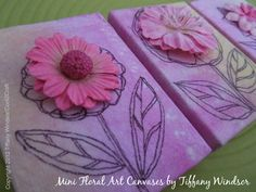 I love to dye paper towels and collage with them. I made these mini floral art canvases for my mom for Mother's Day. http://cool2craft.com