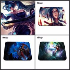 League of Legends Jinx Computer LOL Gaming Rubber Mouse Pad Mousepads Decorate Your Desk Non-Skid Rubber Pad
