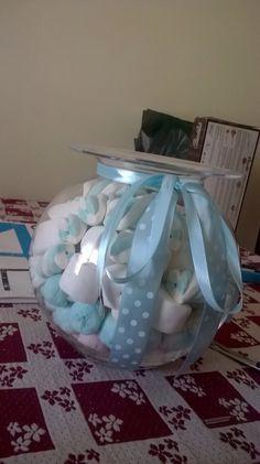 #vaso #marshmallow #decorazioni #battesimo