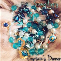 LuckyRaps(TM) Captain's Dinner, Five times around wrap bracelet by SpaceHippyTM, special edition Fiver.