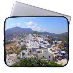Kythira town – Kythira Laptop Sleeves