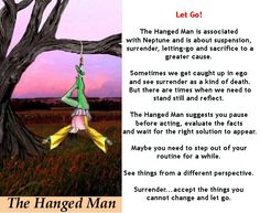 Tarot card meanings and THE HANGED MAN... Lottie :) x