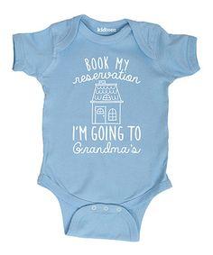 Loving this Light Blue 'I'm Going To Grandma's' Bodysuit on #zulily! #zulilyfinds