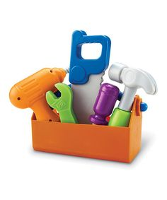 Little builders can construct their own elaborate imaginative mansions with this chunky tool set. The soft, lightweight plastic makes it easy for curious hands to use the durable tools. Includes six pieces12'' W x 9'' H x 4'' DPlasticRecommended for ages 2 years and up