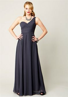 Kennedy Blue  Bridesmaid and Party Dresses  Hannah    Complete Details    Silhouette: A-Line  Neckline: One-Shoulder  Gown Length: Floor  Fabric: Chiffon  Color: Various colors available  Size: 2 - 28  Price: $$   Price Guide