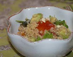 Quinoa, Corn, Avocado & Heirloom Tomato Salad—Sherry Vinaigrette  authenticsuburbangourmet.blogspot.com