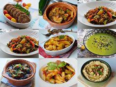 Pentru ca peste putin timp incepe postul m-am gandit sa fac o selectie … Romanian Food, Vegetarian Recipes, Vegan Meals, Vegan Food, Mediterranean Recipes, Ratatouille, Chana Masala, Food And Drink, Veggies