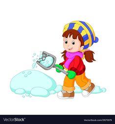 Cartoon kids playing with snow Royalty Free Vector Image Polar Bear Cartoon, Cute Elephant Cartoon, Pirate Cartoon, Ladybug Cartoon, Cartoon Birds, Happy Cartoon, Cartoon Boy, Happy Elephant, Cute Baby Elephant