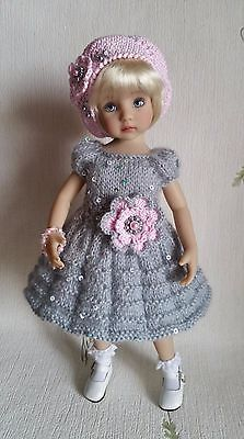 """Outfit """"Grey&Pink"""" for dolls 13"""" Dianna Effner Little Darling."""